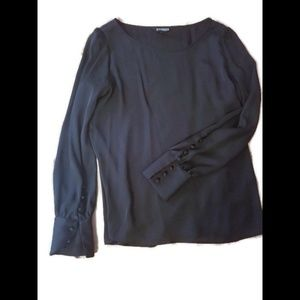 Express long sleeve black dressy blouse
